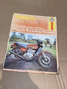 YAMAHA XS500 TWIN 1973 On SERVICE REPAIR MANUAL By HAYNES 308