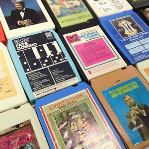 8-Track Tapes LOT Guy Lombardo GLENN MILLER Peggy Lee MANILOW Exotic Guitar Fats