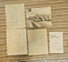 Early 1950's Architectural Drawings House design notes and costs