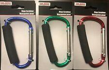 Tool Bench Hardware Mega Carabiner Clips (Red, Green, & Blue)