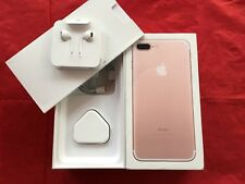 Genuine Apple iPhone 7 Plus Rose Gold Box (UK model) with accessories - REF F16