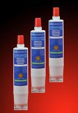 3 piezas Filtro de Agua Cartucho refrigerador Bauknecht Whirlpool SBS001