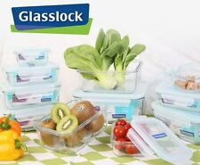 Glasslock - 7pcs set Strong Tempered Glass Taper Rectangular Food Storage