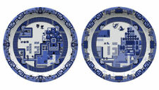 Olly Moss ZELDA & POKÉMON 8-Bit Game WILLOW PLATE SET OF TWO Not Print Poster