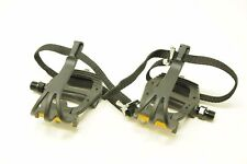 VP 335 ROAD BIKE PEDALS TOE CLIP & STRAPS - TRACK FIXIE BIKE SINGLE SPEED FIXED