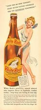 1942 WW2 era AD  WHITE ROCK SPARKLING WATER  topless Tinkerbelle 051017