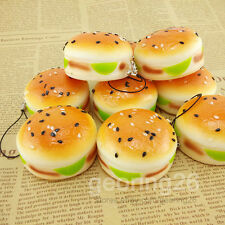5CM Sesame Squishy Hamburger Phone Straps Bread Scent Soft Bun Charms Key Chain