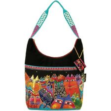 "Laurel Burch Medium Scoop Tote Zipper Top 14""x3.5""x12.25""-fantasticats"