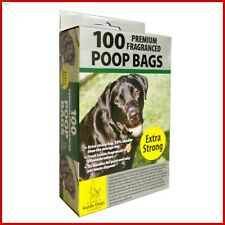 Extra Strong Premium Dog Doggy Poo Lemon Scented Poop Bags With Tie Handles