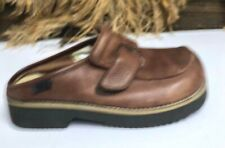 AMERICAN EAGLE Women's Brown Leather Sonoma Slide Sandals Sz 9