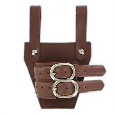 Medieval Leather Broadsword Dagger Universal Natural Adjustable Brown Frog