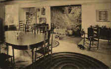 USA Postcard NEWBURGH New York Parlor Washington Dining Room Speiseraum ~1930