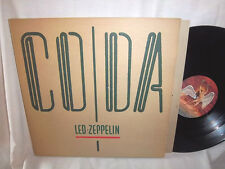 LED ZEPPELIN-CODA rock vinyl VG+/VG+ LP