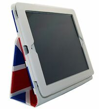 Union Jack Design Protective Leather Case Cover Stand Folio Apple iPad 2 3 4