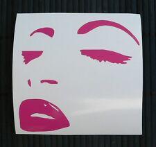 HOT SALE adesivo VISO DONNA wall sticker decal vynil vinile ritagliato WOMAN