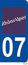 1 Sticker plaque AUTO adhésif département 07