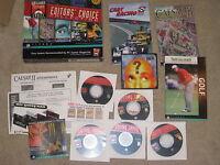 VINTAGE PC COMPUTER BIG BOX SIERRA EDITORS' CHOICE CAESAR II ++ COMPLETE CIB