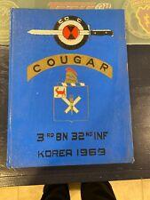 New ListingUs 32nd Infantry Reg Yearbook - C 3-32 Infantry - Rok 1969 - Korea - Vietnam era