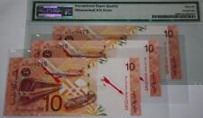 (PL) RM 10 MISMATCHED SERIEL NUMBER 3PCS WITH CROSSING 1&2 DIGIT ERROR UNC & PMG