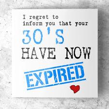 FUNNY 40TH BIRHDAY CARD for Dad Husband Son Friend Brother - Rude Humorous Joke