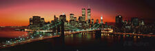 New York - Brooklyn Bridge at night Collections Poster Print, 62x21