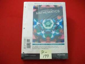 A SURVEY OF MATHMATICS WITH APPLICATIONS 10th EDITION WITH SOLUTIONS MANUAL NISP