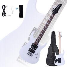 New Maple Electric Guitar White +Gigbag +Strap +Cord +Pick +Tremolo Bar