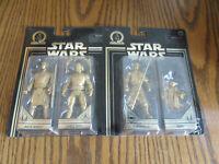 Star Wars Gold Skywalker Saga Darth Maul & Yoda Jango Fett Mace Windu