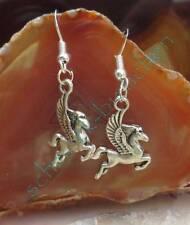 Boucle d'oreille Pegasus Pégase Cheval fantastique Animal Mythique en métal