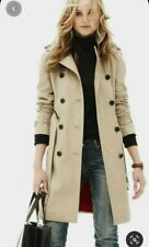 SABA High End Trench Coat In Ivory Size 8
