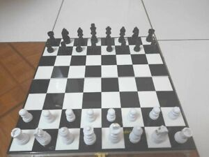 Wood Chess Board Folding Travel Set Non-Magnetic in High Gloss Finish 11 inches
