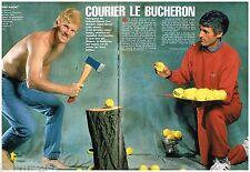 Coupure de presse Clipping 1992 (2 pages) Jim Courier