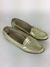 SAS Loafers Tripad Comfort Metalic Gold Womens Size 9.5 S