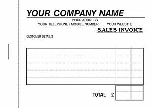 2 Invoice Books - 50 x 2 Personalised A6 Duplicate NCR / Sales Book / Work Book
