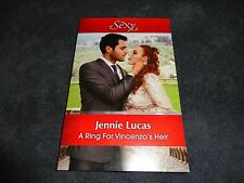 A RING FOR VINCENZO'S HEIR  BY  JENNIE LUCAS +SEP2016-MILLS & BOON+SEXY+