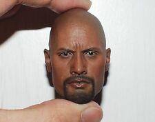 â–ˆ Custom Dwayne Johnson Roadblock 1/6 Head Sculpt for Hot Toys Muscular Body â–ˆ