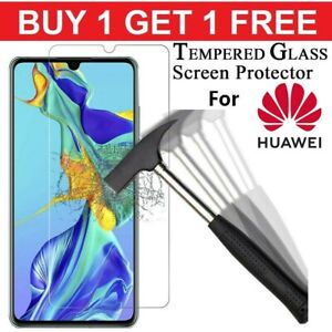 Gorilla Glass Screen Protector For Huawei P20 P30 Pro Lite Y6 Y7 P Smart Fully