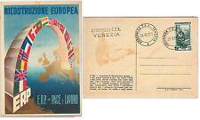 ITALIA REPUBBLICA:  storia postale - CARTOLINA con annullo speciale VENEZIA ERP