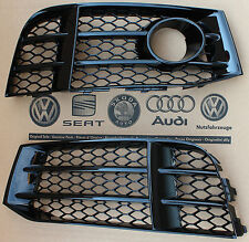 Audi RS5 original grid fog light grill lower bumper grille gloss black with ACC