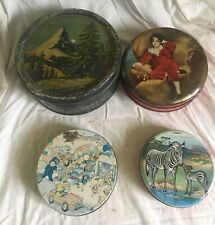 4 x  vintage  biscuit  tins Wilkin Soverign etc lot 11