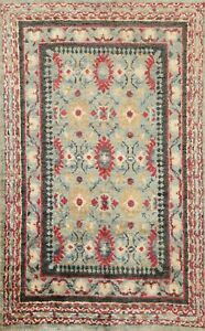 Geometric Traditional Oushak Oriental Area Rug Hand-knotted Kitchen Carpet 5'x7'