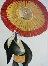 "Al Hirschfeld Original Hand Signed Lithograph Kabuki Theater:"" Sukeroku """