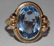 Antiker Ring aus Gold mit Stein Aquamarin ?