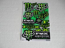Sticker Aufkleber Monster Motorradsport Motorsport Motorradcross Racing Race