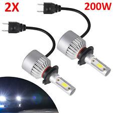 2x H7 CREE 2-Sides 200W 8000LM Hi/Low Kit Bulbs Beam 6000K LED Headlight