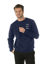 Personalised custom embroidered Mens/Ladies Sweatshirts Navy,Name, Company Logo