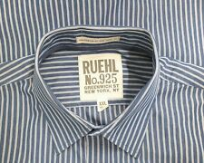 Ruehl No.925 Blue White Striped Button Down Long Sleeve Shirt Mens Size XXL 2XL