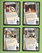X-FILES CCG  4-Rares  CARDS #  XF96 - 013-016-018-021