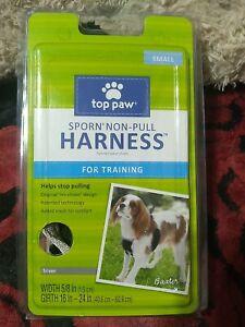 Top Paw SPORN Non-Pull Harness Small Silver/Black NEW Dog Rescue Friendly