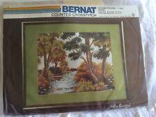 Bernat Counted Cross Stitch Kit Autumn Foliage Helen Burgess 14 Mesh #4091